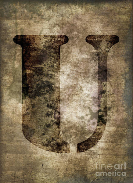 Wall Art - Photograph - Industrial Letter U by Delphimages Photo Creations