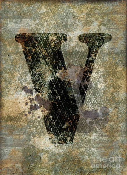 Wall Art - Photograph - Industrial Letter V by Delphimages Photo Creations