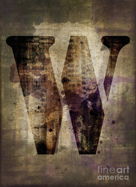 Wall Art - Photograph - Industrial Letter W by Delphimages Photo Creations
