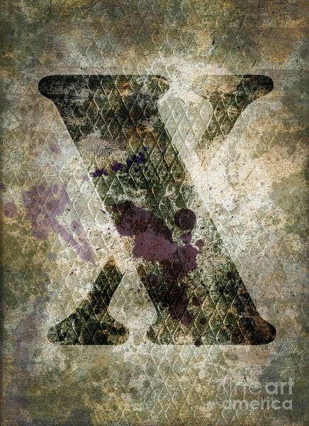 Wall Art - Photograph - Industrial Letter X by Delphimages Photo Creations