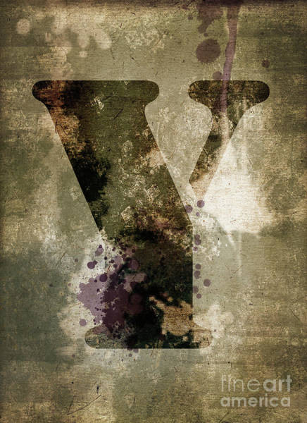 Wall Art - Photograph - Industrial Letter Y by Delphimages Photo Creations