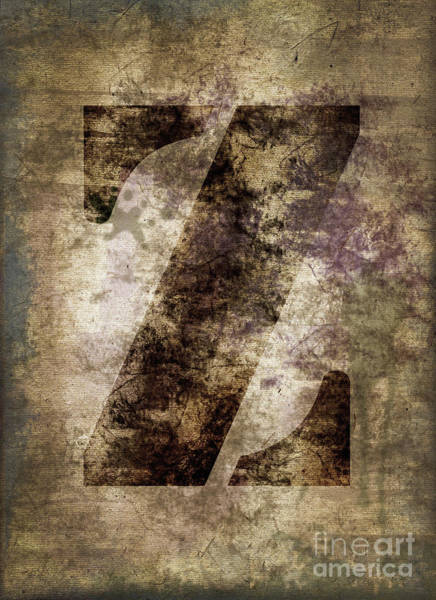 Wall Art - Photograph - Industrial Letter Z by Delphimages Photo Creations