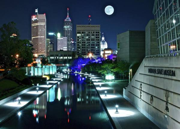 Wall Art - Photograph - Indy Night 2019 by Frozen in Time Fine Art Photography