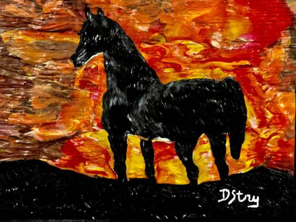 Mixed Media - Inferno by Deborah Stanley