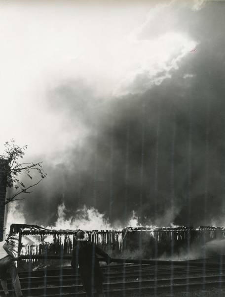 Car Accident Painting - Inferno In The City Streets 1930s  14 by Celestial Images