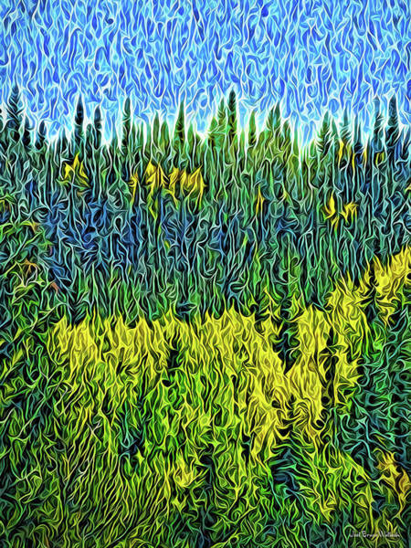 Digital Art - Infinite Forest Vista by Joel Bruce Wallach