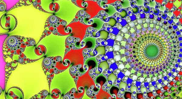 Digital Art - Infinite Fractal Spiral Green by Don Northup