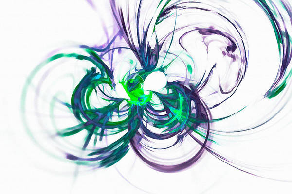 Digital Art - Infinite Green And Purple by Don Northup