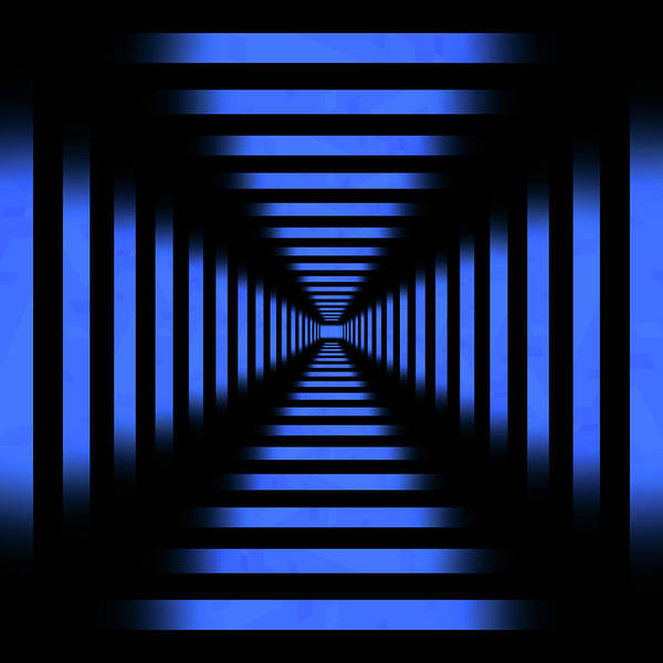 Wall Art - Photograph - Infinity Tunnel Blue Pixels by Pelo Blanco Photo