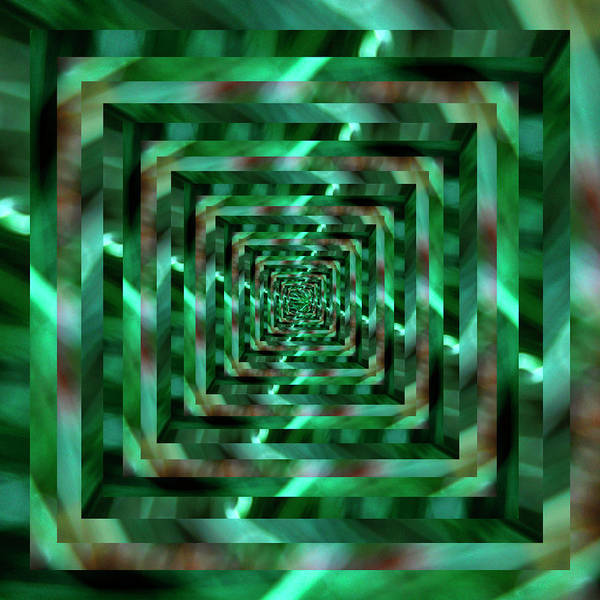 Wall Art - Photograph - Infinity Tunnel Blurry Green by Pelo Blanco Photo