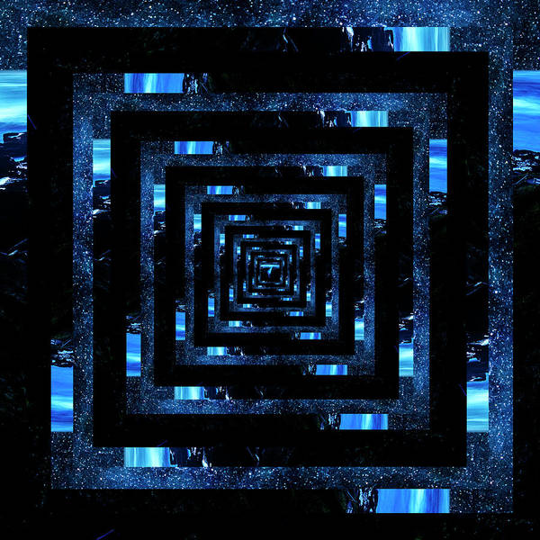 Cape Perpetua Wall Art - Photograph - Infinity Tunnel Cape Perpetua Blue Night by Pelo Blanco Photo