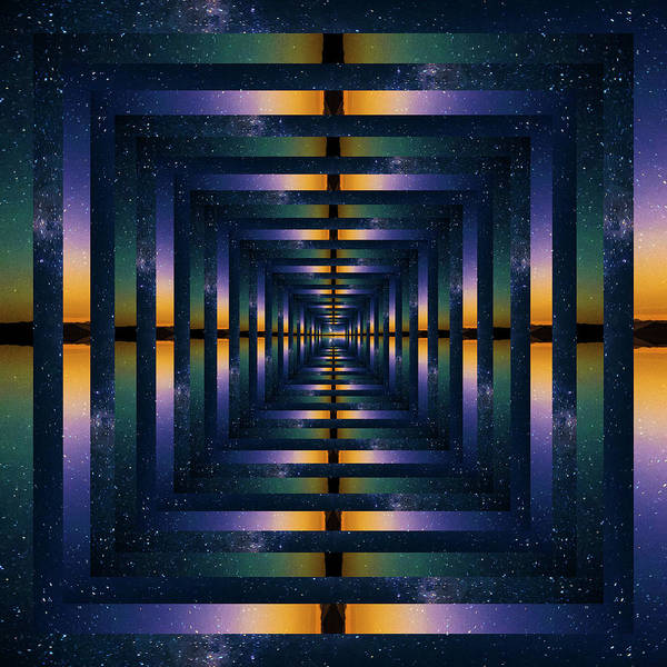 Wall Art - Photograph - Infinity Tunnel Mount Rainier And The Milky Way Reflection by Pelo Blanco Photo