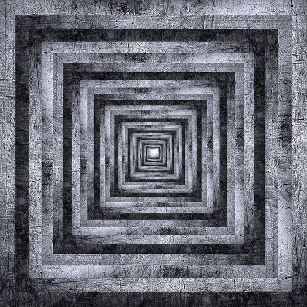 Wall Art - Photograph - Infinity Tunnel Scratched Metal by Pelo Blanco Photo