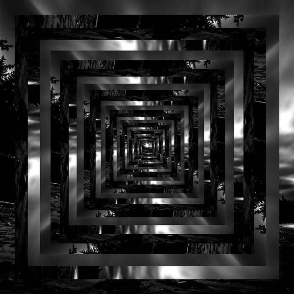 Wall Art - Photograph - Infinity Tunnel Shi Shi Beach Black And White by Pelo Blanco Photo