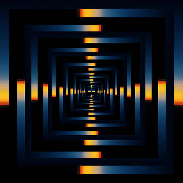 Wall Art - Photograph - Infinity Tunnel Skyline Divide Sunset Reflection by Pelo Blanco Photo
