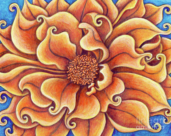Painting - Informal Decorative Orange Dahlia by Amy E Fraser
