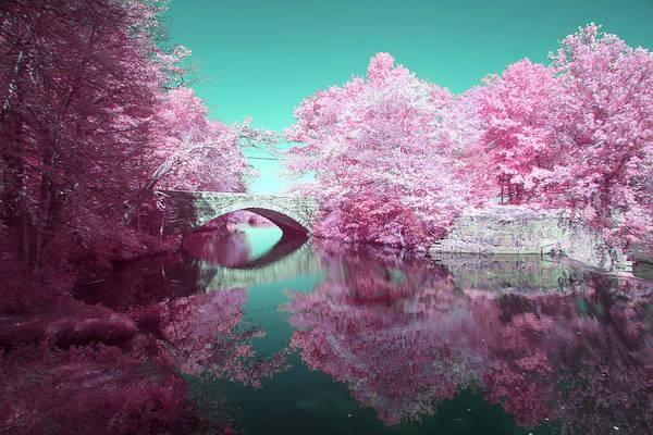 Infrared Bridge Art Print