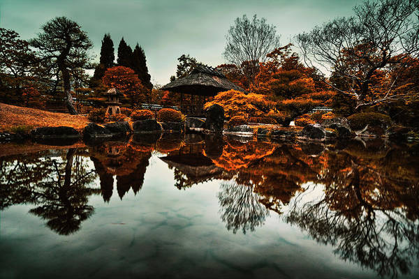 Himeji Photograph - Infrared Japanese Zen Garden Reflection by Benjamin Dupont