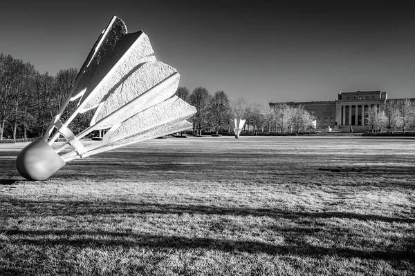 Photograph - Infrared Shuttlecock Sculptures - Kansas City Missouri by Gregory Ballos