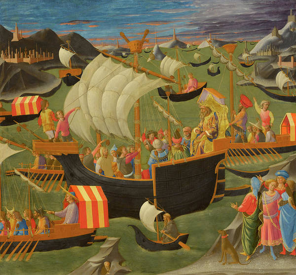 Wall Art - Painting - ing Melchior Sailing to the Holy Land, 1450 by Francesco Pesellino