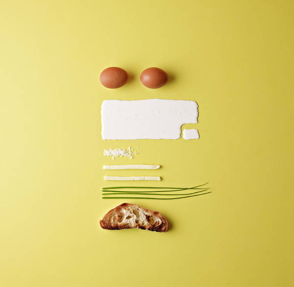 Photograph - Ingredients For Scrambled Eggs by Mark Lund