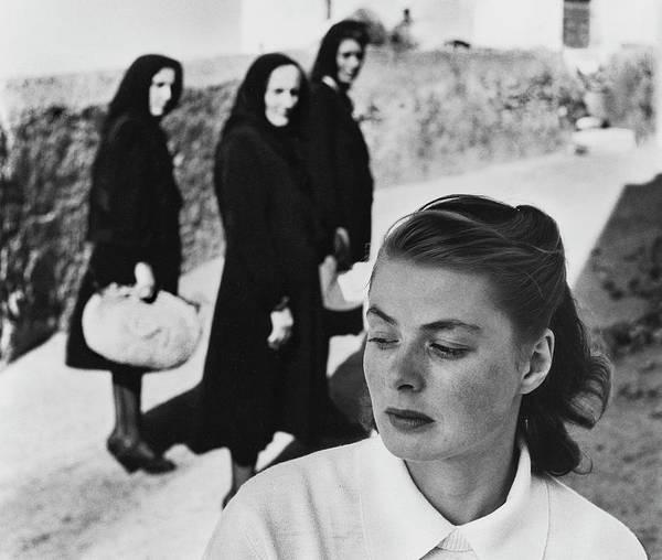 Photograph - Ingrid Bergman In Italy For Stromboli by Gordon Parks