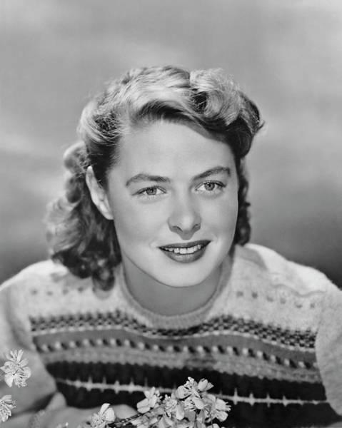 Sweater Photograph - Ingrid Bergman Portrait by Archive Photos