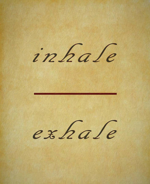 Mixed Media - Inhale Exhale Meditation  by Dan Sproul