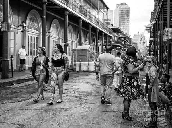 Photograph - Inked On Bourbon Street New Orleans by John Rizzuto