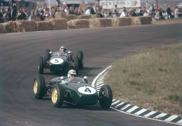 Wall Art - Photograph - Innes Ireland Driving A Lotus 18, Dutch by Heritage Images