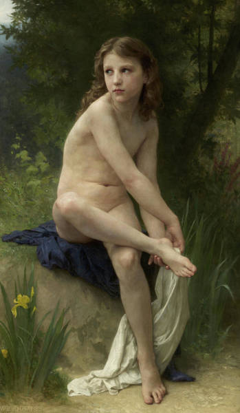 Wall Art - Painting - Innocence, 1891 by William-Adolphe Bouguereau