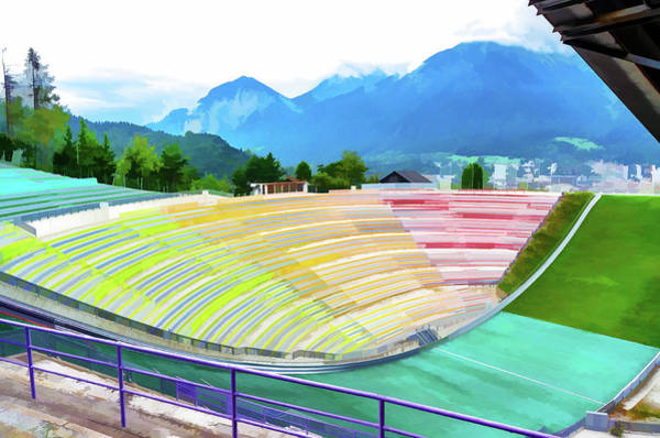 Digital Art - Innsbruck Olympic Stadium II by Borja Robles