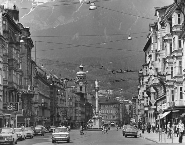 Strasse Photograph - Innsbruck Street by George H Hall