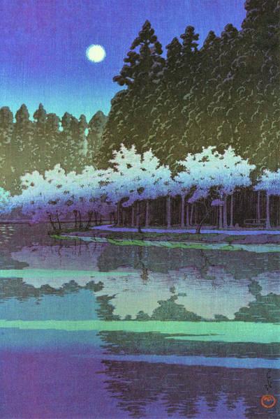 Wall Art - Painting - Inogashira, Spring Night - Digital Remastered Edition by Kawase Hasui