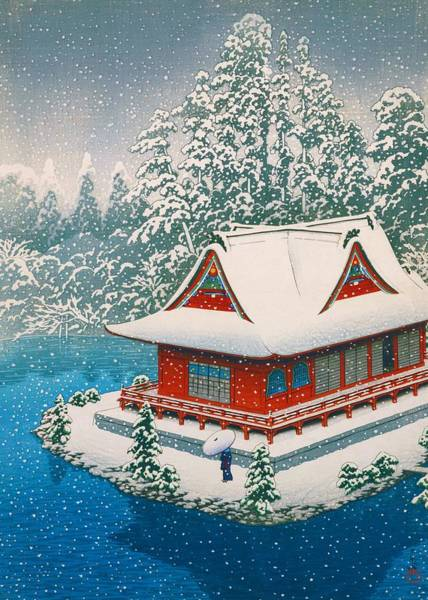 Snowscape Painting - Inokashira Snow - Top Quality Image Edition by Kawase Hasui