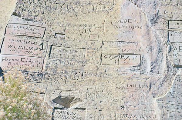 Wall Art - Photograph - Inscription Rock El Morro by Debby Pueschel