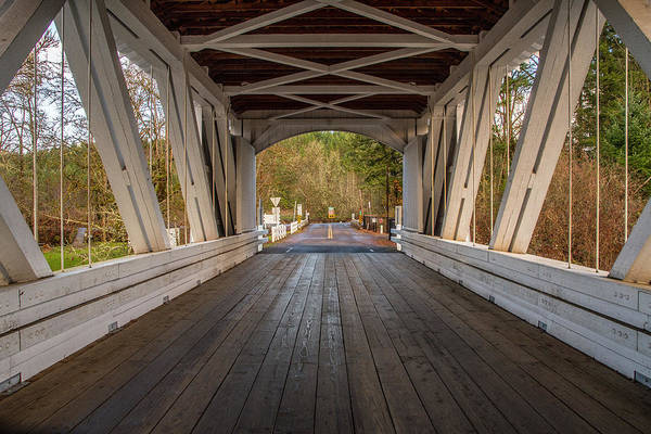 Photograph - Inside Larwood Bridge by Matthew Irvin