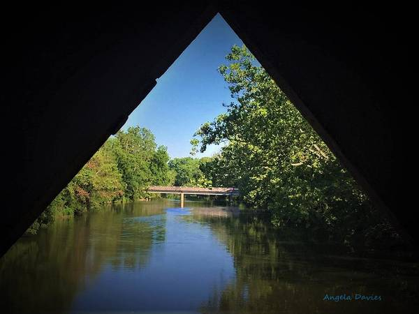 Photograph - Sachs Covered Bridge Inside Looking Out by Angela Davies