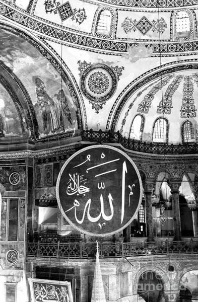Sancta Sophia Photograph - Inside The Ayasofya Istanbul by John Rizzuto