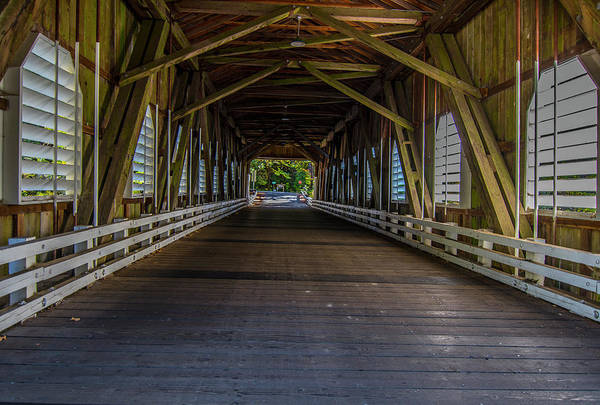 Photograph - Inside The Belknap Bridge by Matthew Irvin