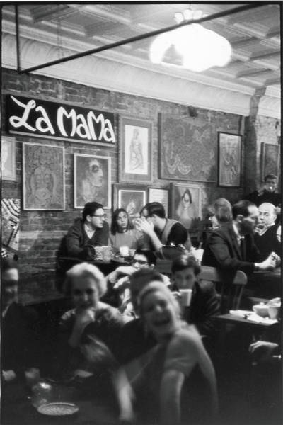 Customer Photograph - Inside The Cafe La Mama by Fred W. McDarrah