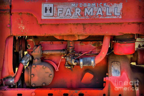 Photograph - Inside The Farmall by Janice Pariza