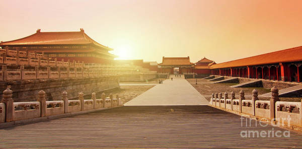 Forbidden City Photograph - Inside The Forbidden City by Delphimages Photo Creations