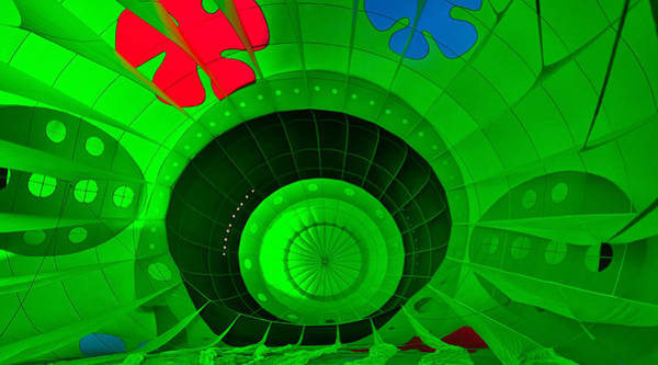 Inside The Green Balloon Art Print