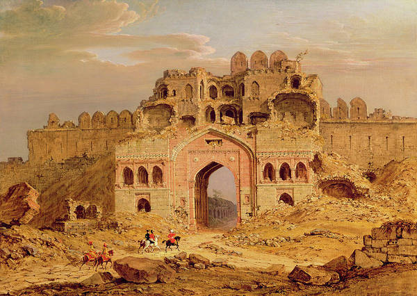 Collapse Painting - Inside The Main Entrance Of The Purana Qila, Delhi by Robert Smith