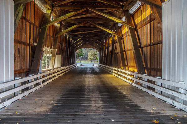 Photograph - Inside The Pengra Bridge by Matthew Irvin