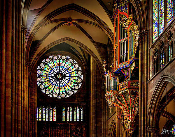 Wall Art - Photograph - Inside The Strasbourg Cathedral by Endre Balogh