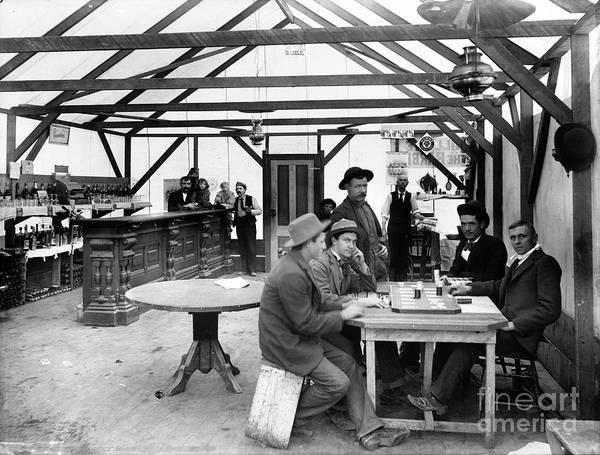 Photograph - Inside The Yellow Aster Saloon, Randsburg, California - Circa. 1900 by Doc Braham