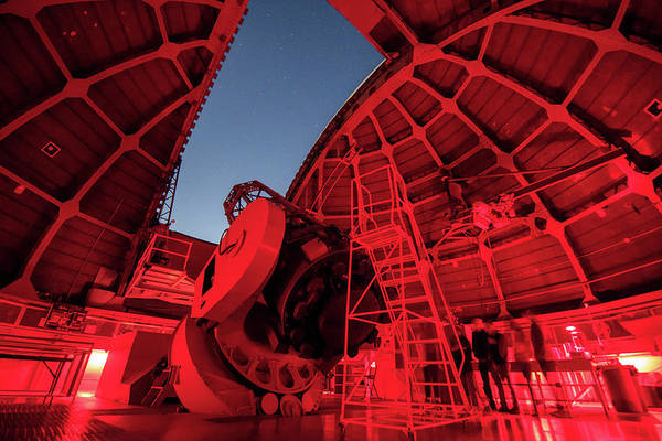 Wall Art - Photograph - Inside View Of The 60-inch Telescope by Jeff Dai