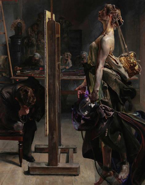 Poland Painting - Inspiration Of The Painter, 1897 by Jacek Malczewski